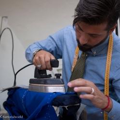 On n'imagine pas à quel point le fer peut être utilisé pendant la réalisation de la veste