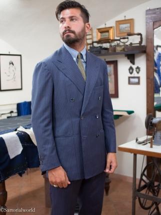 un bel exmple de veste napolitaine, d'une légèreté incroyable